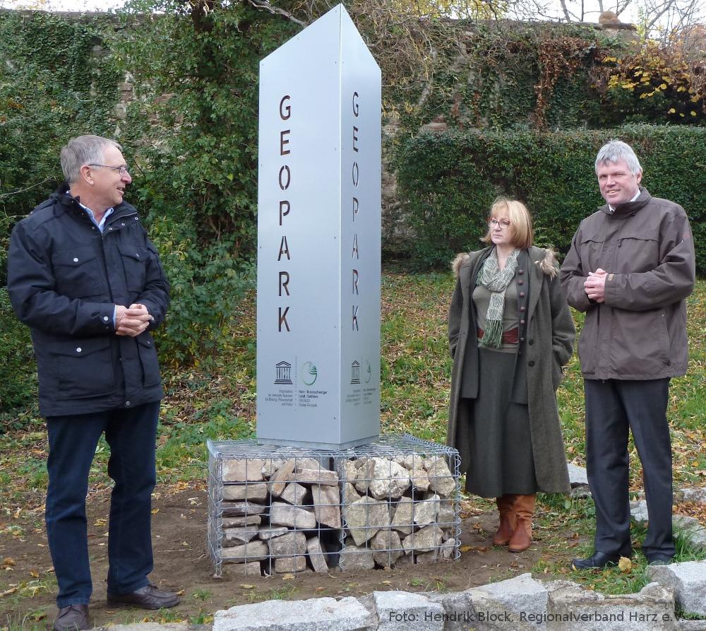 Geopark-Stele eingeweiht